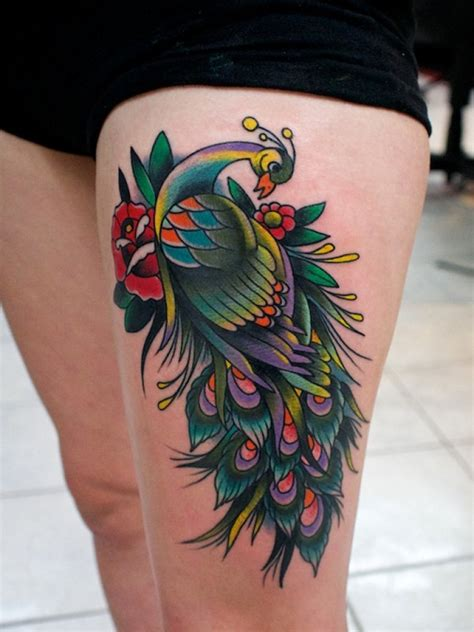 traditional tattoo black and grey awesome style ideas peacock for and