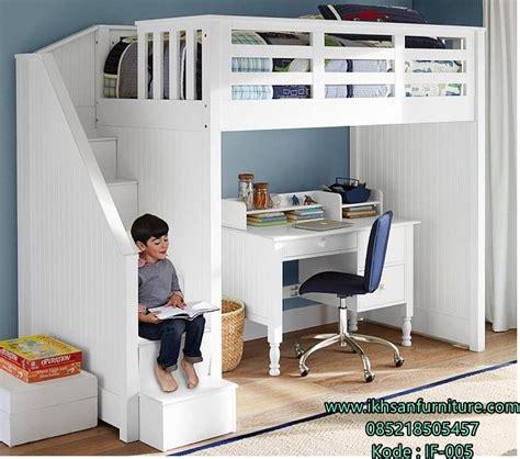 Tempat Tidur Dan Meja Belajar jual tempat tidur tingkat putih duco mebel jepara tempat
