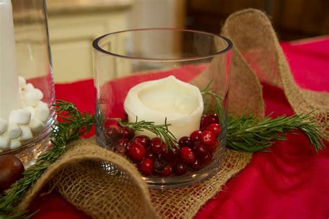 christmas candle centerpiece ideas let s craft with