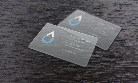 Clear Plastic Business Cards clear plastic business card design