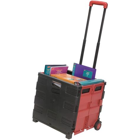 On Wheels by Staples Expanding Crate On Wheels Black Staples 174