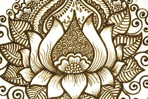 lotus henna tambourine