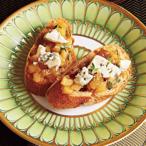 cooking light holiday appetizers apple blue cheese chutney holiday open house menu