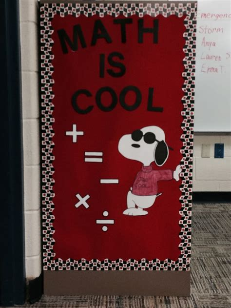 math like christmas door decorations 25 best ideas about snoopy classroom on brown brown images