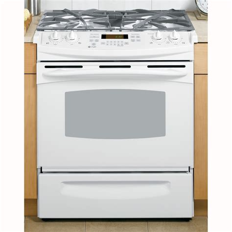 ge profile gas range ge profile pgs908depww profile series 30 quot slide in gas range sears outlet