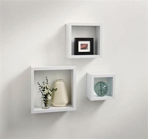 Floating Shelf Bentuk Frame 3 Pcs norsk hi gloss cube shelves 3pc white shelving b m