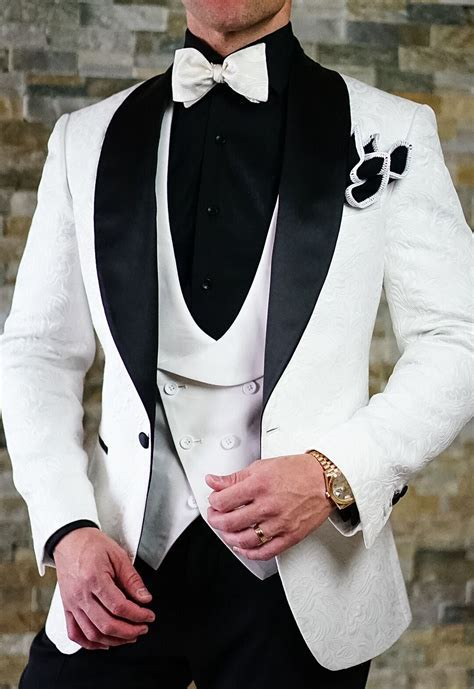 S by Sebastian White & Black Paisley Dinner Jacket in 2019