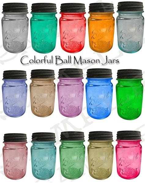 colored canning jars best 25 color jars ideas on