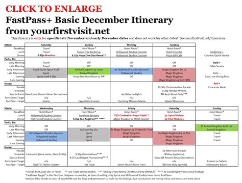 basic december fastpass itinerary yourfirstvisit net