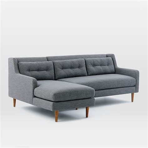 crosby sofa with chaise crosby 2 piece chaise sectional west elm