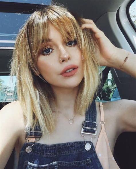 pictures of bangs shorter in the middle longer on sides best 25 parted bangs ideas on pinterest middle parting