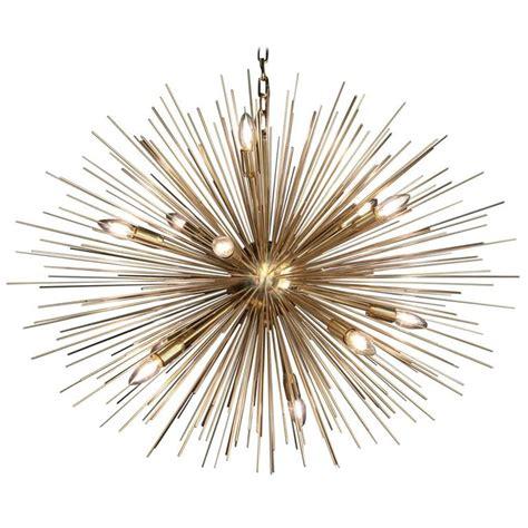 Urchin Chandelier Monumental Brass Sputnik Or Urchin Chandelier For Sale At 1stdibs