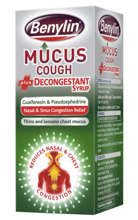 Decongestant Also Search For Benylin 174 Mucus Cough Plus Decongestant Syrup Benylin 174 Uk