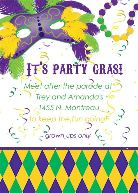 mardi gras invitation template mardi gras invitation template