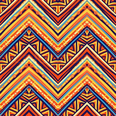 ethno muster ethnic pattern in retro colors aztec style seamless