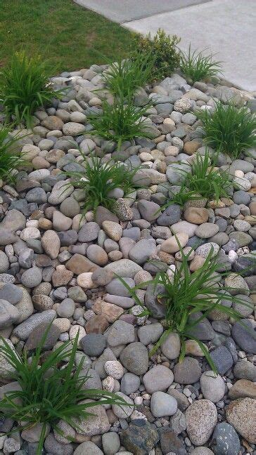 garden bed rocks replace front yard flower beds with river rock home