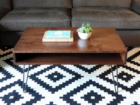 mid century modern coffee table diy writing all my wrongs