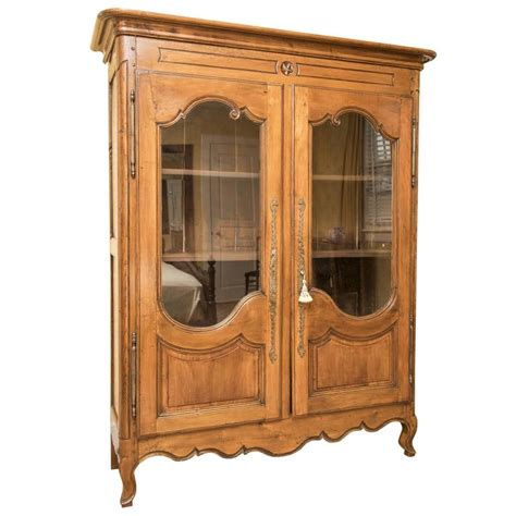 glass armoire glass front french armoire for sale at 1stdibs