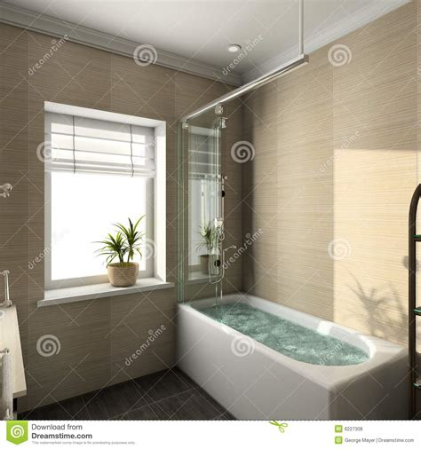 render modern interior  bathroom royalty  stock