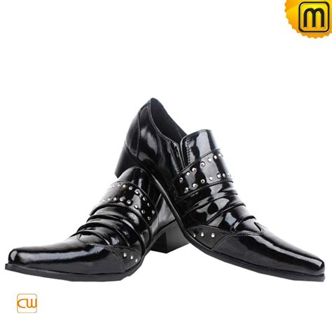 dress shoes black mens black patent leather dress shoes cw760026