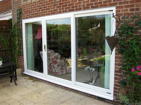 Doors For Patio Doors White In Line Patio Door 3 Panel Dm Windows