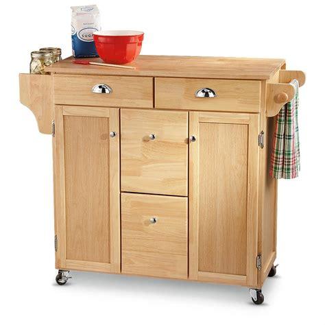 Wooden Kitchen Cart by Castlecreek Wood Top Kitchen Cart 210057 Kitchen