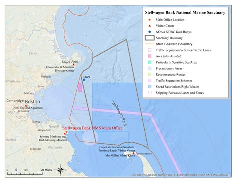 Bank Letterhead Español Stellwagen Bank Map National Marine Sanctuaries
