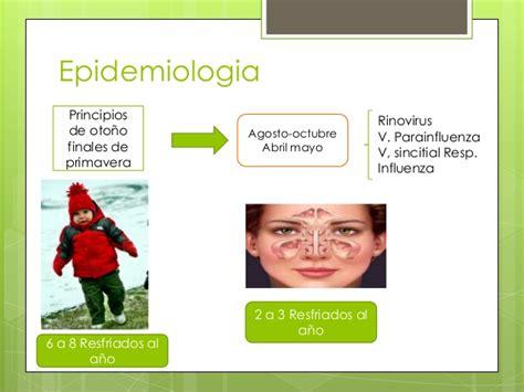 cadena epidemiologica gripe comun resfriado comun crup epiglotitis