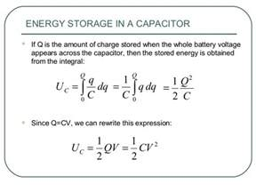 capacitor energy integral ch19 electric potential energy and electric potential