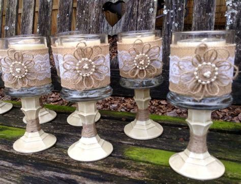 Wedding Accessories Ideas Shabby Chic Wedding Table Centerpieces