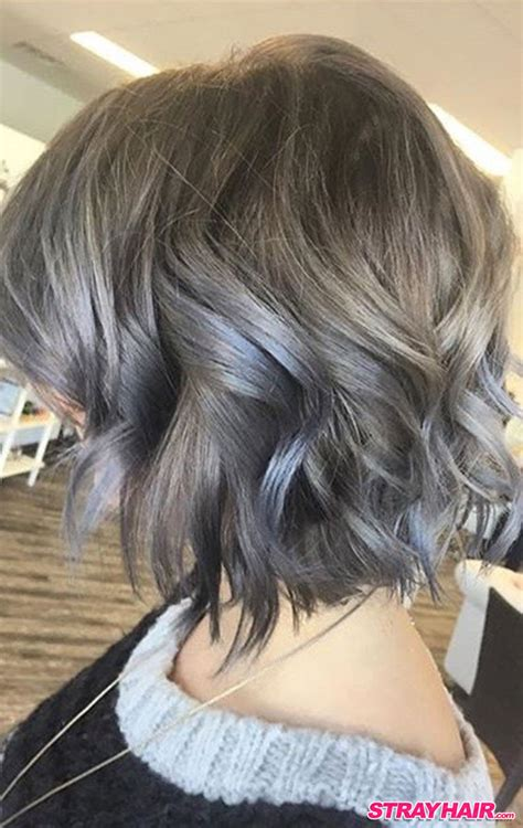 gray shoulder length hairstyles gorgeous gunmetal gray hair strayhair
