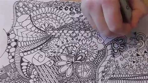 how to make doodle picture burst out tangle doodle line drawing