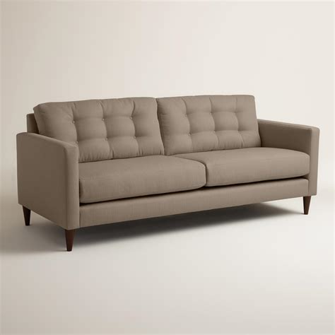 world market settee textured woven ryker upholstered sofa world market