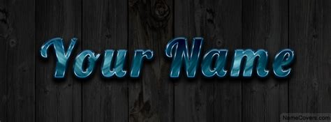 Your Name Or Text glossy text name cover timeline cover
