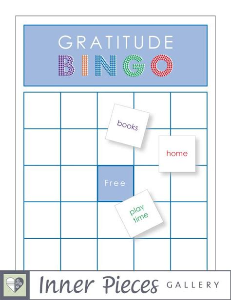 practice card template gratitude bingo diy free printable includes 50 done