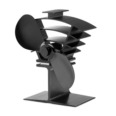 heat powered fireplace fan small size 2 blades black heat powered stove fan fireplace