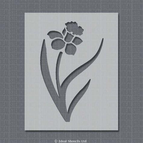 pattern stencil templates daffodil stencil ideal stencils