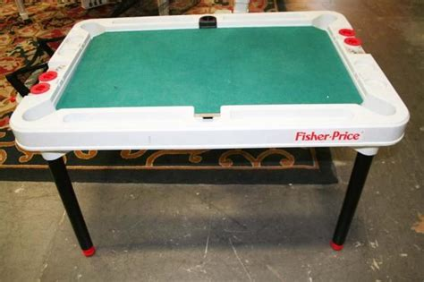 fisher price bench table the fisher price pool table family room pinterest