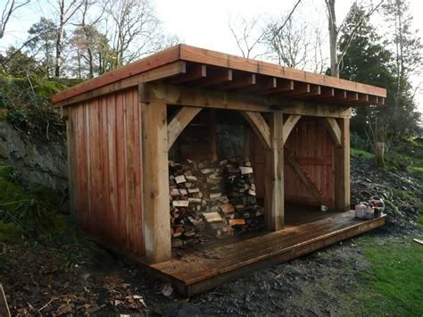 Timber Shed by Oak Frame Timber Garden Shed Landscape Gardeners Cumbria