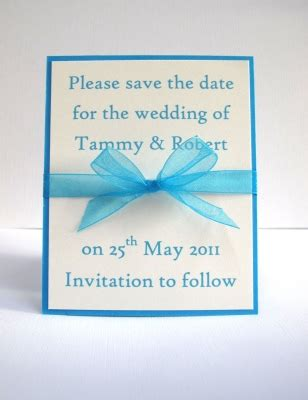 Save The Date Handmade - wedding stationery save the date