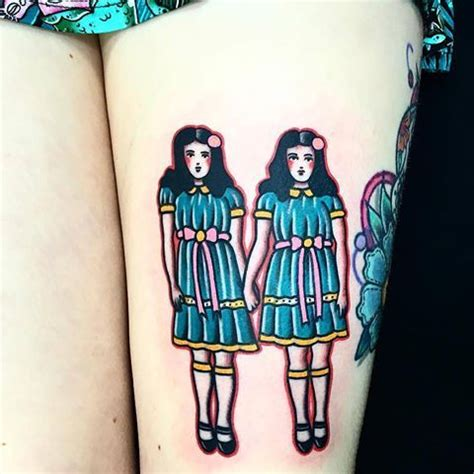 flash tattoo in london the shining twins tattoo by daniqueipo at