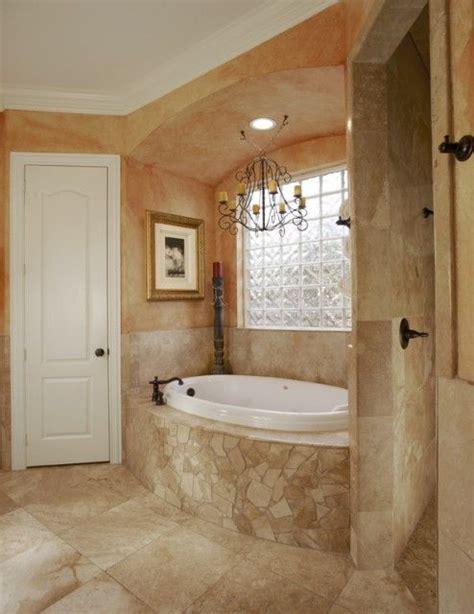roman bathroom ideas a tuscan style master bath with worn faux finished walls