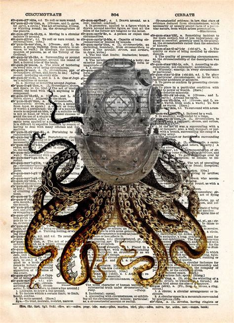 octopus art diving helmet victorian steampunk lovecraft