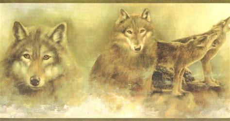 the winter wolf wallpaper border wallpaper border