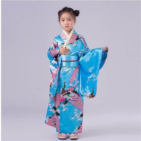 Stages Dress Gil fashionable japanese kimono dress children yukata kid