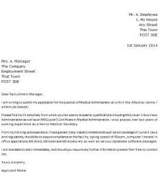 Health Administration Cover Letter by Post Reply