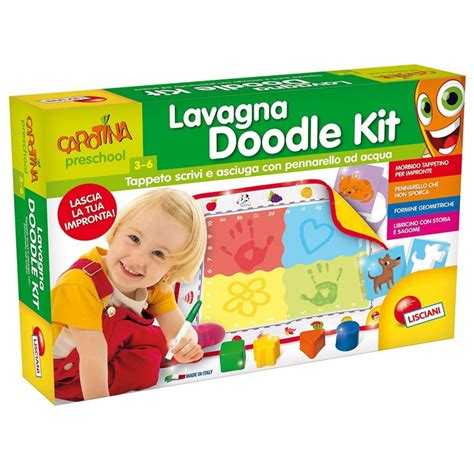 how to use doodle kit lisciani giochi 64106 carotina lavagna doodle kit