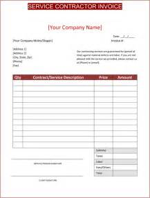 Contractor Invoice Template invoice template contractor free to do list
