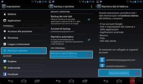 android soft reset reset android tutti i metodi chimerarevo
