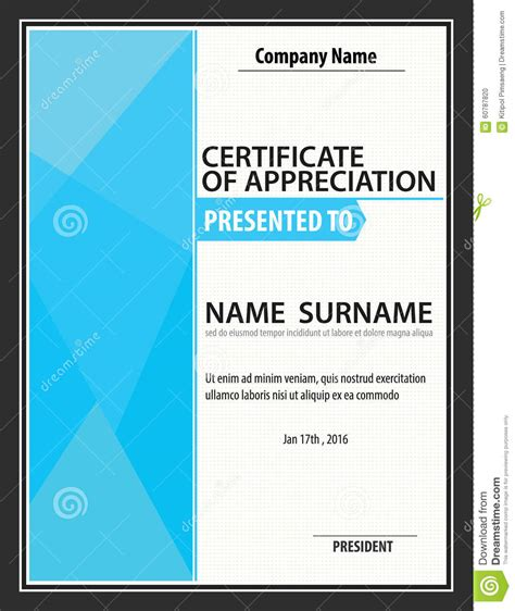 custom certification card size template vertical certificate template diploma letter size vector